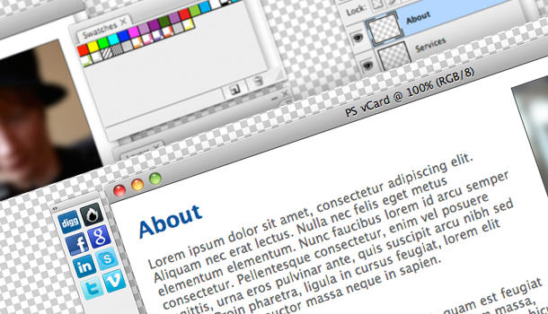 پوسته سایت شخصی Photoshop HTML