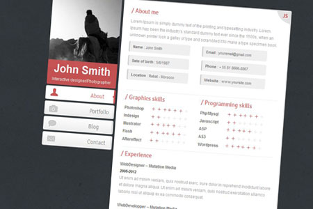 قالب سایت شخصی Second در سه رنگ به صورت HTML و CSS