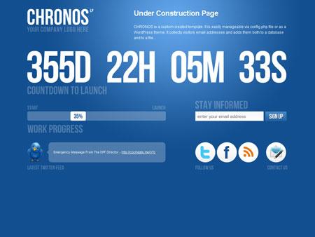 قالب سایت در دست ساخت HTML,WordPress با نام Chronos