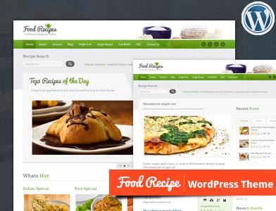 پوسته دستور غذا و آشپزی وردپرس Food Recipes