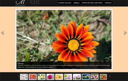 اسکریپت گالری تصاویر jQuery XML Media Gallery