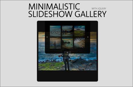اسکریپت گالری عکس و نمایش اسلایدی تصاویر Minimalistic