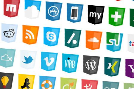 مجموعه آیکون های اشتراک گذاری Modern Web Social Icons