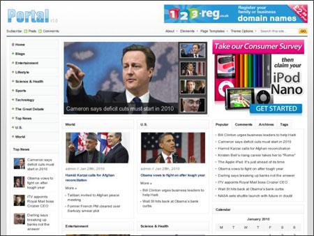 پوسته فارسی خبری وردپرس Portal 1.0