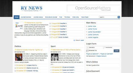 قالب رایگان RY-News برای سیستم جوملا
