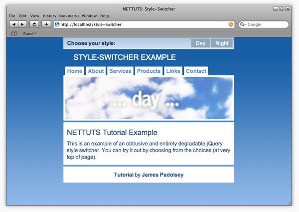تغییر قالب و Style سایت با Style Switcher