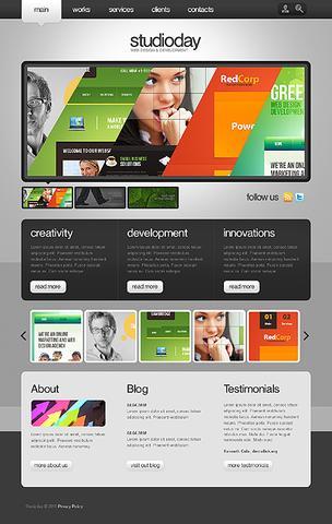 قالب Flash مانستر شرکت طراحی وب