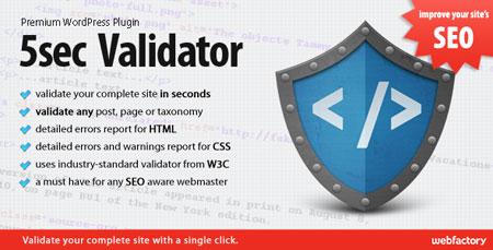 افزونه بررسی، بهینه سازی و استاندارد سازی صفحات وردپرس 5sec Validator
