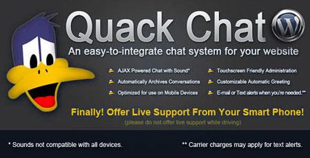 اسکریپت پشتیبانی (چت آنلاین) Quack Chat