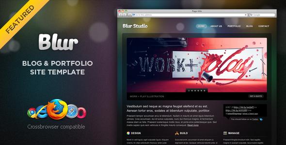 پوسته زیبای Blur CSS3