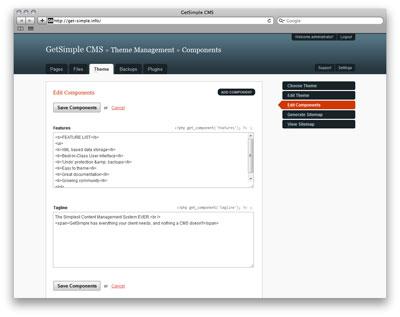 سیستم مدیریت محتوای متن باز GetSimple نسخه 2.0.3