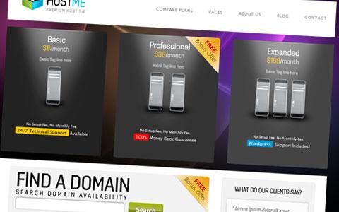 پوسته HTML هاستینگ Hostme