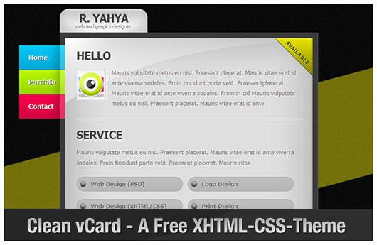 پوسته سایت شخصی Clean vCard